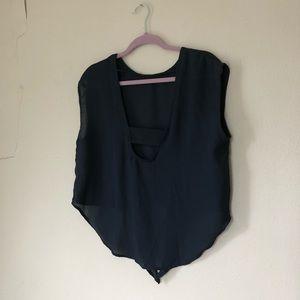 lft Tops - LFT lightweight navy blouse